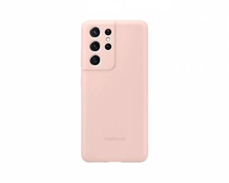 Samsung S21Ultra Silicone Cover Pink