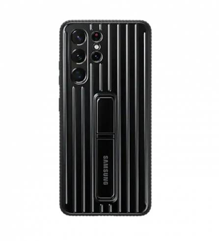 Samsung S21Ultra Protective Standing Cover Black