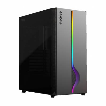 Кутия за настолен компютър Gamdias Mars M1 с RGB лента ATX Mid tower