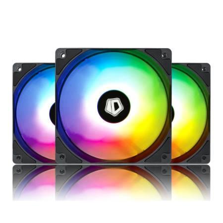 3 бр. aRGB охлаждащи вентилатори за компютърна кутия ID-Cooling XF-12025 120 мм