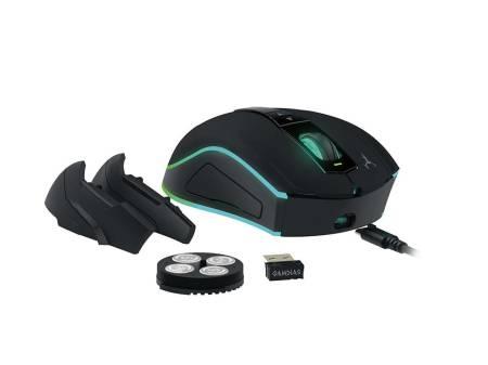 Безжична/кабелна USB оптична геймърска мишка Gamdias Hades M1 LED подсветка