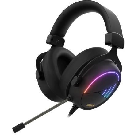 RGB геймърски слушалки с микрофон Gamdias Hebe M2