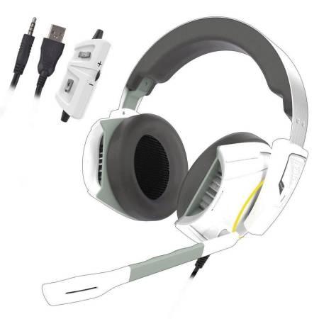Геймърски слушалки с микрофон Gamdias HEPHAESTUS E1 LED подсветка
