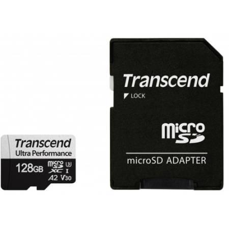 Transcend 128GB microSD w/ adapter UHS-I U3 A2 Ultra Performance