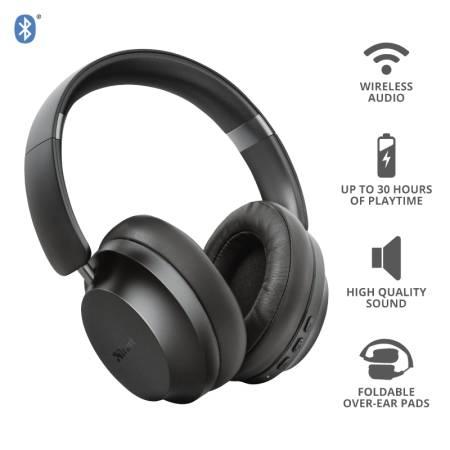 TRUST Eaze Bluetooth Wireless Headphones