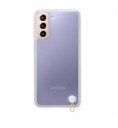 Samsung S21 Clear Protective Cover White