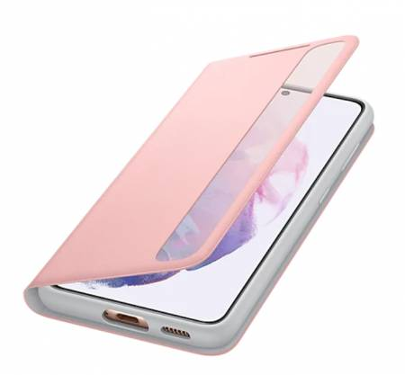Samsung S21 Smart Clear View Cover Pink