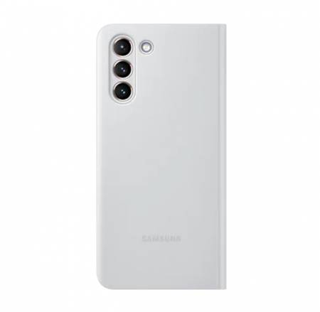 Samsung S21 Smart Clear View Cover Light Gray