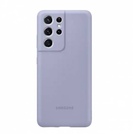 Samsung S21Ultra Silicone Cover Violet