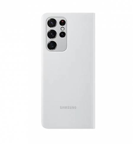Samsung S21Ultra Smart Clear View Cover Light Gray