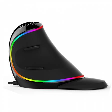 RGB вертикална оптична мишка Delux M618 Plus