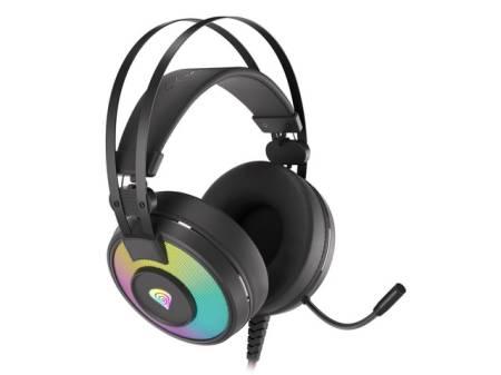 Genesis Headset Neon 600 With Microphone RGB Illumination Black