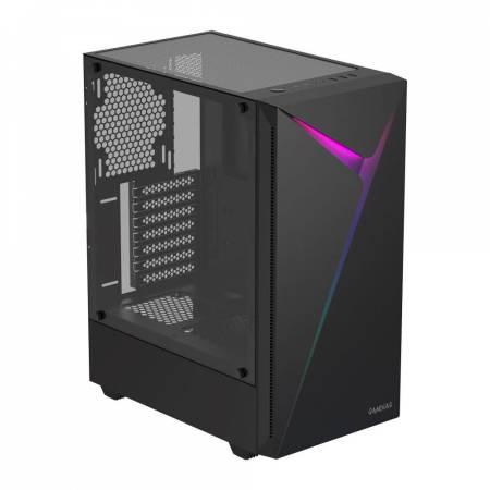 Кутия за настолен компютър Gamdias Argus E4 със страничен панел от закалено стъкло