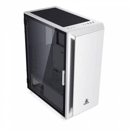 Кутия за настолен компютър Segotep Gank 5 SG-GK5-WH със закалено стъкло бяла