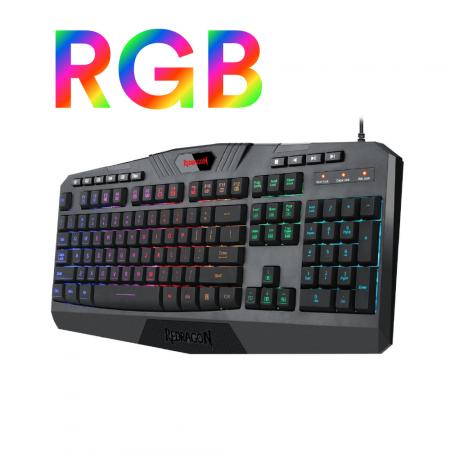 RGB геймърска клавиатура Redragon Harpe Pro K503A-RGB-BK