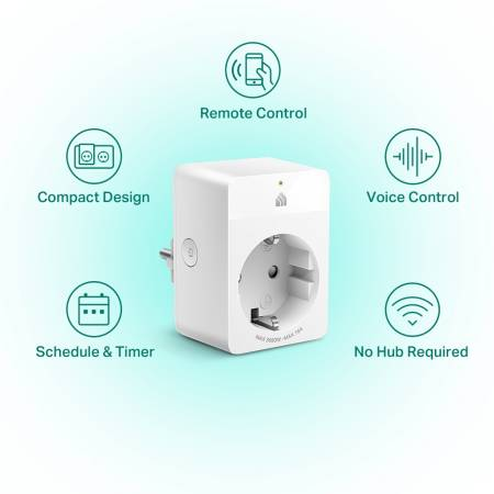 Wi-Fi интелигентен контакт TP-Link KP105 Kasa Smart 2-pack