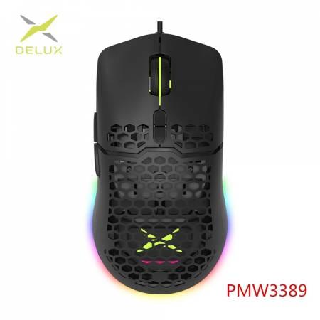 RGB геймърска мишка Delux M700(PMW3389)