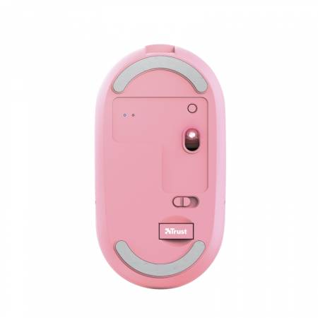 TRUST Puck Wireless & BT Rechargeable Mouse Pink
