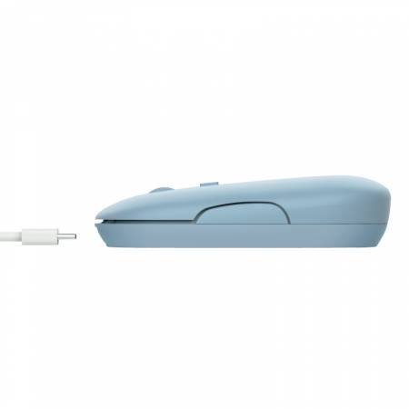 TRUST Puck Wireless & BT Rechargeable Mouse Blue