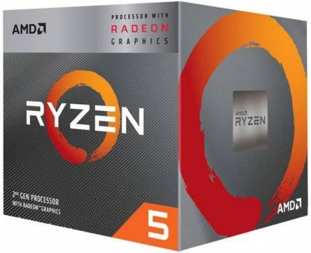 Процесор AMD Ryzen 5 4C/8T 3400G 4.2GHz MPK RX Vega 11 Graphics YD340GC5FHMPK