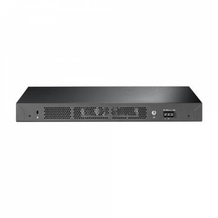 24-портов Gigabit L2 управляем комутатор TP-Link T2600G-28TS-DC с 4 SFP слота и DC