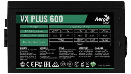 Захранващк блок Aerocool VX-PLUS-600 600W