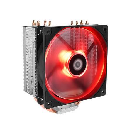 Охладител за Intel/AMD процесори ID-Cooling SE-224M-R червена подсветка