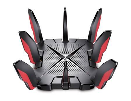 3-лентов Wi-Fi 6 геймърски рутер TP-Link Archer GX90 AX6600
