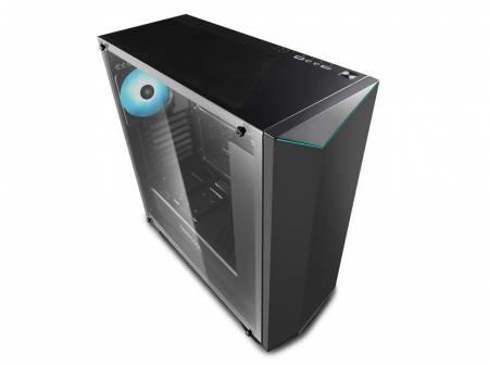 Кутия за настолен компютър Deepcool Earlkase RGB V2 прозрачен страничен панел