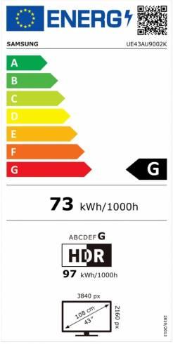 """Samsung 43"""" 43AU9002 4K 3840 x 2160 UHD LED TV"""