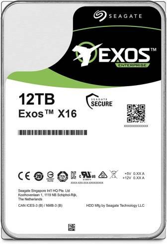 Seagate Exos X16 12TB HDD 7200 RPM 512e/4Kn SATA 6Gb/s 256MB Cache 3.5
