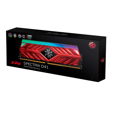RAM памет за компютър ADATA XPG D41 8GB DDR4 3000MHz RGB LED подсветка AX4U300038G16-SB41