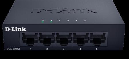 5-портов неуправляем гигабитен комутатор D-Link DGS-105GL