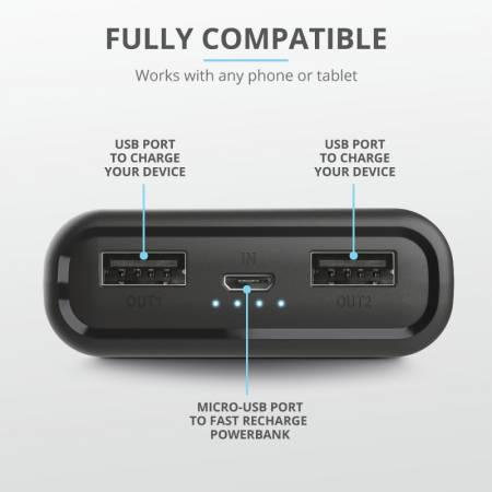 TRUST Pacto Pocket-Size Powerbank 10000 mAh