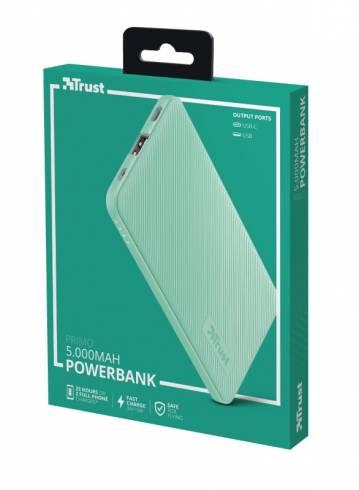TRUST Primo Fast Ultra-thin Powerbank 5000 mAh Mint