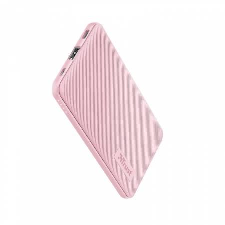 TRUST Primo Fast Ultra-thin Powerbank 5000 mAh Pink