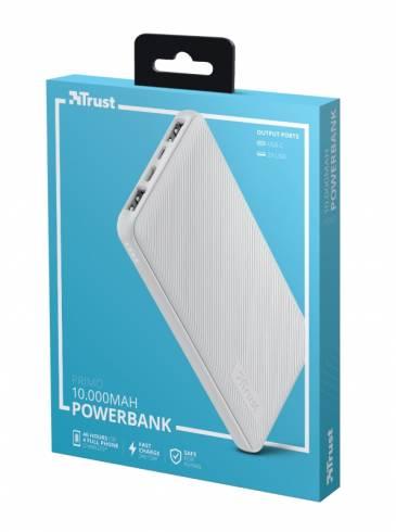 TRUST Primo Fast Ultra-thin Powerbank 10000 mAh White