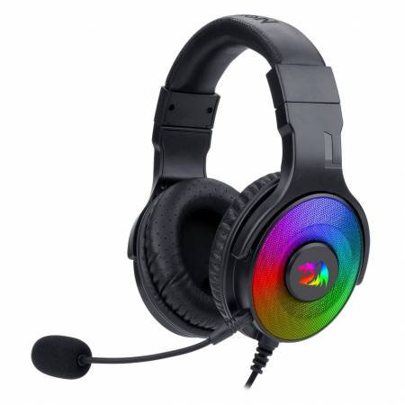 USB RGB LED геймърски слушалки с микрофон Redragon Pandora H350RGB-BK