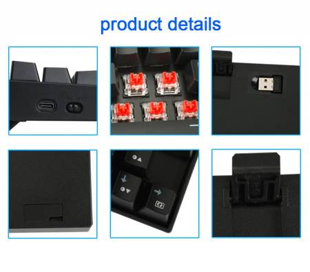 Безжична/USB механична RGB клавиатура Redragon Deimos K599-KRS-BK red switches