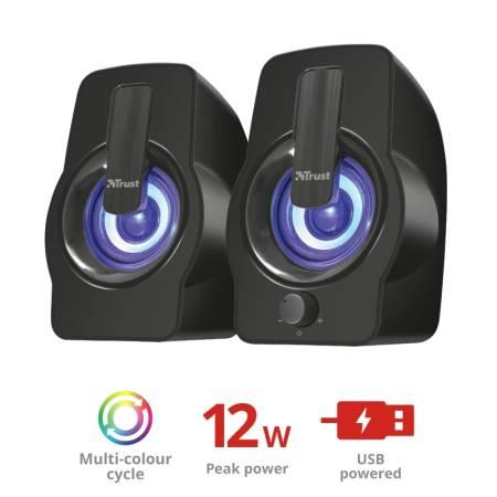 TRUST Gemi 2.0 Speaker RGB Black