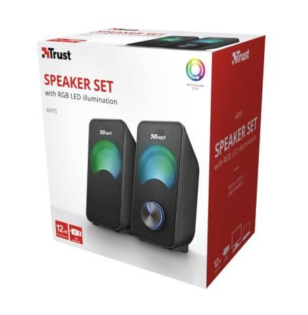 TRUST Arys Compact 2.0 Speaker RGB