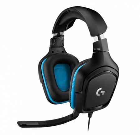 Геймърски слушалки с микрофон Logitech G432 7.1 Surround Sound 981-000770