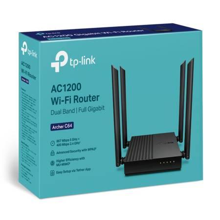 2-лентов MU-MIMO Wi-Fi рутер TP-Link Archer C64 AC1200