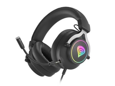 Genesis Gaming Headset Neon 750 With Microphone RGB Illumination Black
