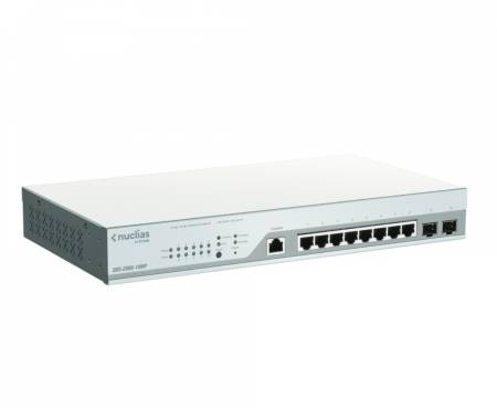 D-Link 10-Port Gigabit PoE+ Nuclias Smart Managed Switch including 2x SFP Ports (With 1 Year License)