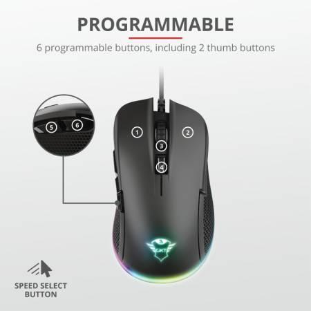 TRUST GXT 922 Ybar RGB Gaming Mouse