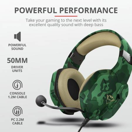 TRUST GXT 323C Carus Gaming Headset Jungle Camo