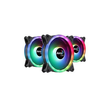 3 бр. aRGB охлаждащи вентилатори за компютърна кутия Aerocool Duo 12 Pro 120 мм