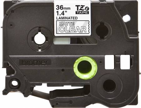 Brother TZe-M65 Matt Laminated Labelling Tape Cassette – White On Clear
