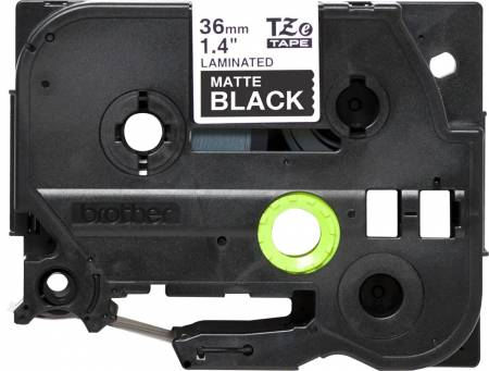 Brother TZe-M365 Labelling Tape Cassette – Matt Laminated White On Black